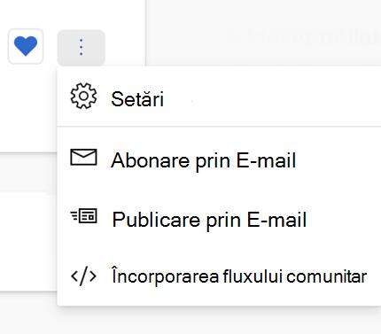 Găsirea adreselor de e-mail pentru publicare în Yammer