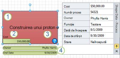 O formă Process cu un grafic de date aplicat.