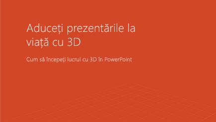 Captură de ecran cu o copertă de șablon 3D PowerPoint