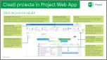 Crearea proiectelor în Project Web App rapidă Ghidul de pornire