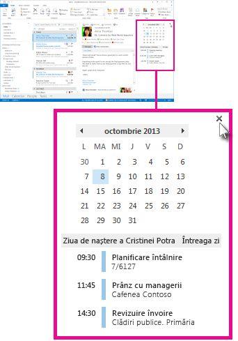 Eliminarea comanda Sumarul sumarului Calendar