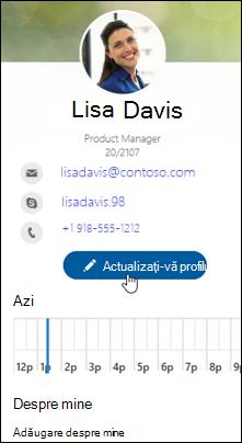 Actualizarea profilului