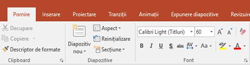 Instrumentul de evidențiere a textului de pe panglica din PowerPoint.
