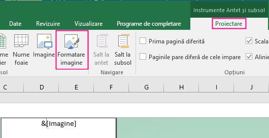 Formatarea fundalului în Excel