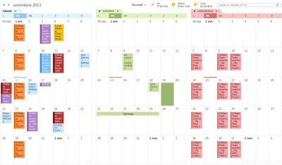 Exemple de trei calendare alăturate
