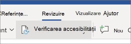 Verificarea accesibilității în Word pentru web