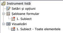 Listă de șabloane și vizualizări de formular