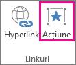 Buton de acțiune în grupul linkuri
