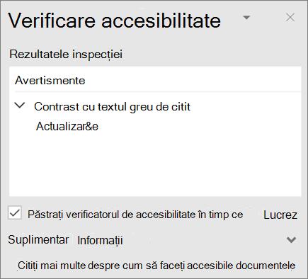 Verificatorul de accesibilitate în Outlook