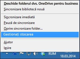 Gestionarea stocării OneDrive pentru business