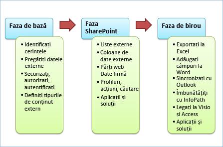 Cele trei faze de dezvoltare