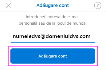 Introduceți adresa dvs. de e-mail