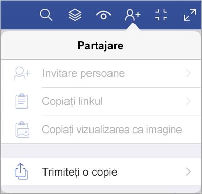 Trimiteți o copie a unui fișier în Vizualizator Visio pentru iPad