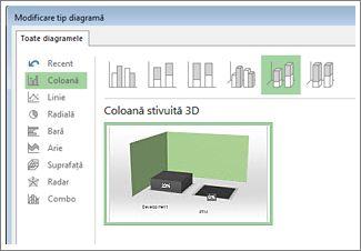 Caseta de dialog Modificare tip diagramă