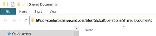 """În Explorer, selectați adresa """"http://"""" afișată acolo."""