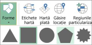 Opțiunea Forme din Hărți 3D