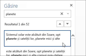 Image of Find pane in Word Online