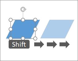 Mutarea unei forme cu un pixel o dată