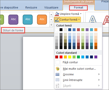 PowerPoint 2010 Shape border options