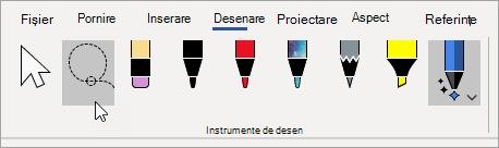 Selectați instrumentul Lasou.