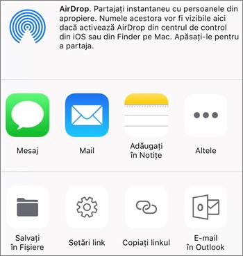 Captură de ecran a butonului Salvați fotografia din aplicația OneDrive de pe iOS