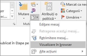 Alegeți vizualizarea în Browser.