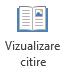 Vizualizarea citire este potrivită pentru citirea unui prezentare PowerPoint în ecran complet atunci când nu există nicio prezentator.