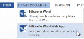 Editare în Word Online