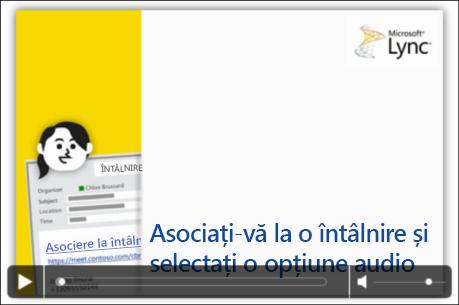 Captură de ecran cu diapozitivul PowerPoint cu controale video