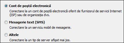 Outlook 2010 - Adăugare cont nou; Cont de e-mail