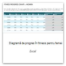 Selectați această opțiune pentru a obține șablonul de diagramă a progresului pentru fitness pentru femei.