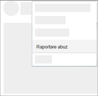 Captură de ecran pentru a raporta abuse în OneDrive