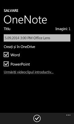 Trimiterea de imagini în Word și PowerPoint pe OneDrive