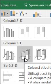 Coloană 3-D în stivă