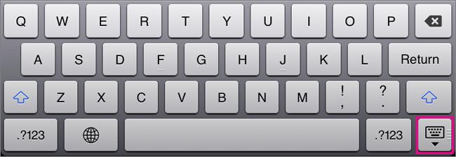 Ascunderea tastaturii vizuale