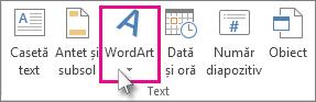 Faceți clic pentru a adăuga un obiect WordArt