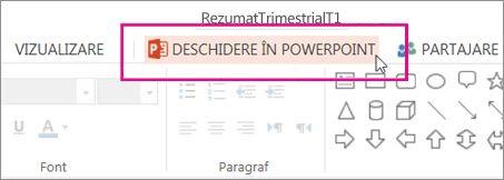 Deschidere în PowerPoint pentru desktop