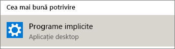 Programe implicite în Windows