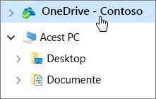 Pornire rapidă pentru angajați: Documente desktop și OneDrive