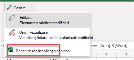 Deschide aplicația pe desktop
