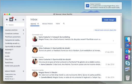 Captură de ecran aplicația desktop