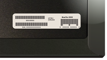 Barcode on Surface Cover packaging