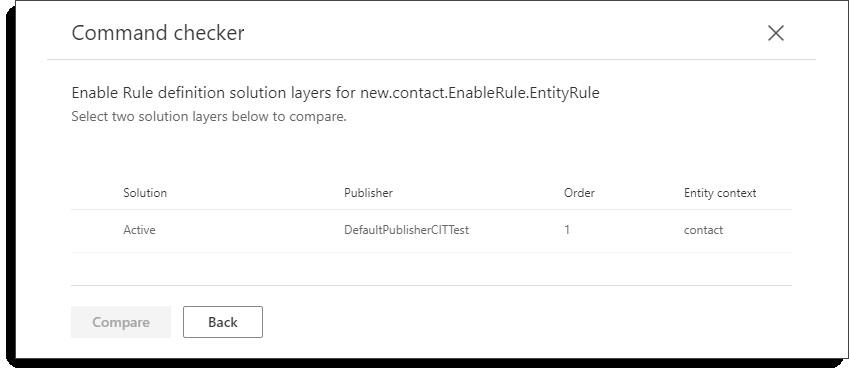 Verificatorul de comenzi-contactați-noua comandă-straturi de soluții pentru reguli