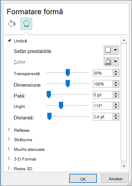 Format Shape dialog box