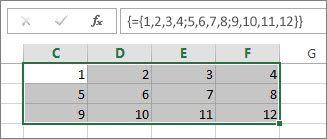 O constantă matrice bidimensională