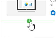 Selectarea unei secțiuni pentru a amplasa o imagine în