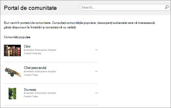Exemplu de portal de comunitate