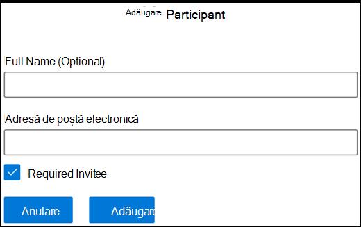 Adăugare participant