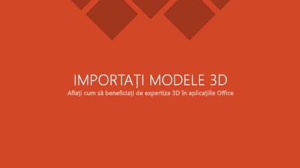Captură de ecran cu un șablon de diapozitiv titlu 3D PowerPoint