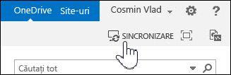 Sincronizarea OneDrive pentru business în SharePoint 2013